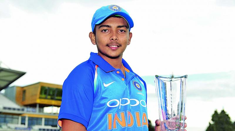 Prithvi Shaw's ban ends on November 15 and he has already started training for Mushtaq Ali Trophy where he would play for Mumbai. (Photo: File)