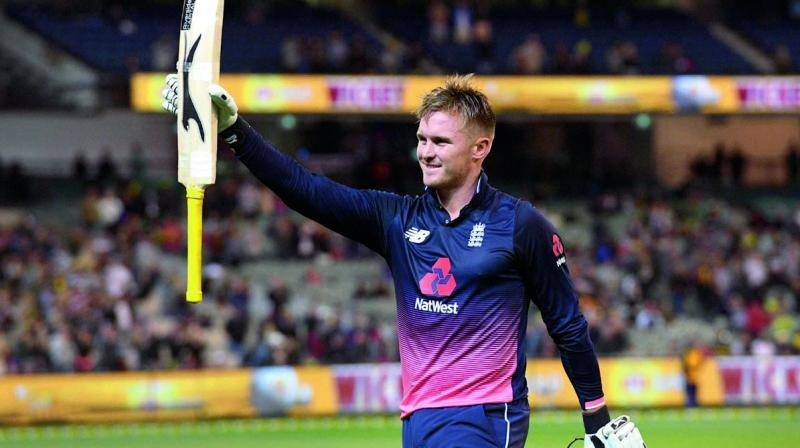 England's Jason Roy acknowledges the applause after making 180 against Australia in their opening ODI at the MCG in Melbourne. (Photo: AFP)