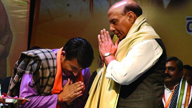 It is learnt that the adventurism was done without the knowledge of Delhi BJP president Manoj Tiwari and Siddarthan and came as a surprise to both of them. (Photo: Biplab Banerjee)