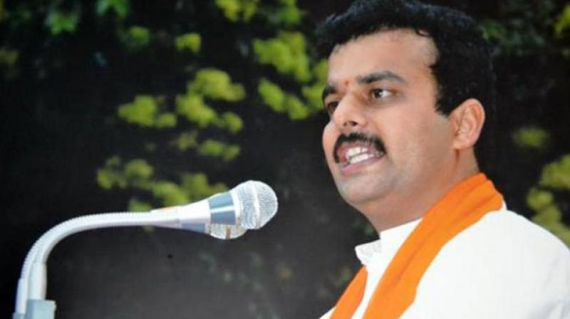 BJP MLA V Sunil Kumar, representing Karkala in the assembly, said 'This election is a question of Hindu self esteem'. (Photo: Facebook)