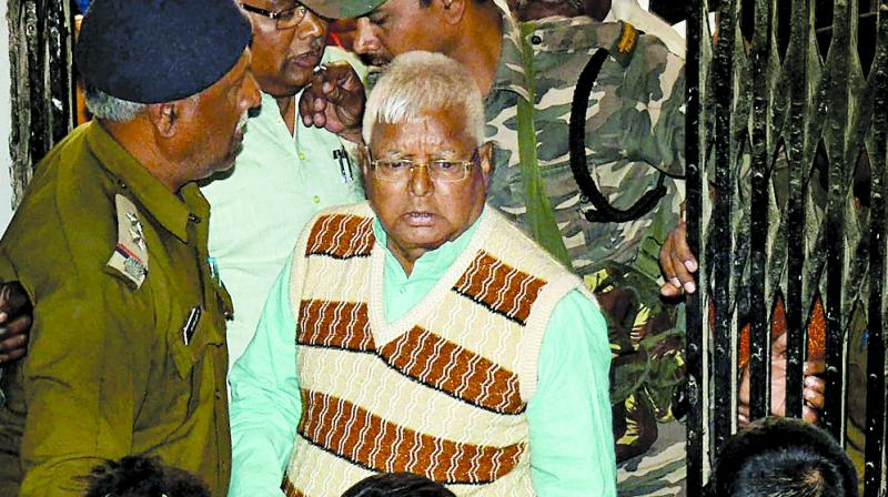 Former Bihar CM Lalu Prasad Yadav at the special CBI court in Ranchi. (Photo: PTI)
