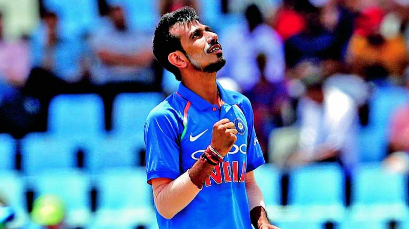 Yuzvendra Chahal took two crucial wickets in the same over in Rajkot, Mushfiqur Rahim and Soumya Sarkar, to put the brakes on Bangladesh's scoring rate. (Photo: AP)