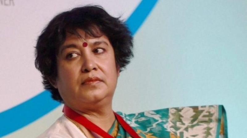 Taslima Nasreen, a citizen of Sweden, has been getting residence permit on a continuous basis since 2004. A Home Ministry official told PTI that her residence permit has been further extended for one more year till July 2020. (Photo: File)