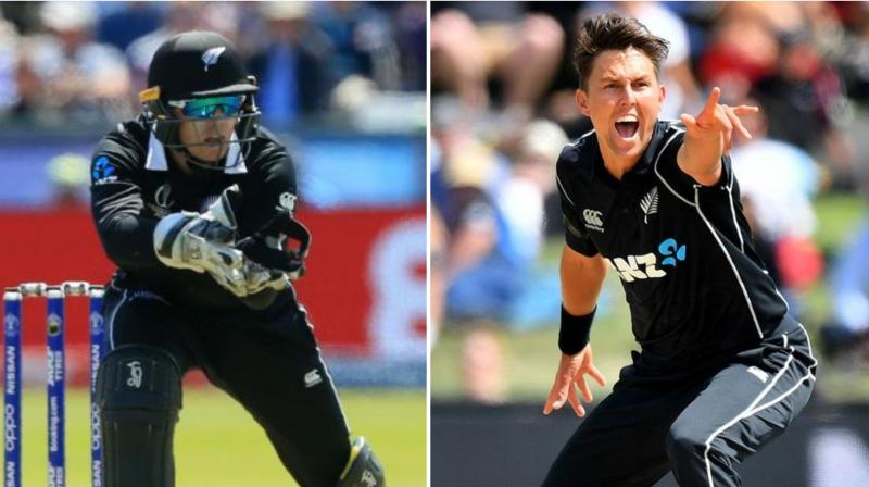 New Zealand pace spearhead Trent Boult and wicketkeeper batsman Tom Latham are doubtful starters for the home series against India after the duo suffered fractures in the recently-concluded Test series against Australia. (Photo:AFP)