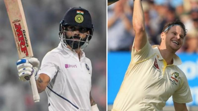 India skipper Virat Kohli retained his top spot among batsmen with 928 points, while Australian maestro Steve Smith is in second (911). (Photo:AFP)