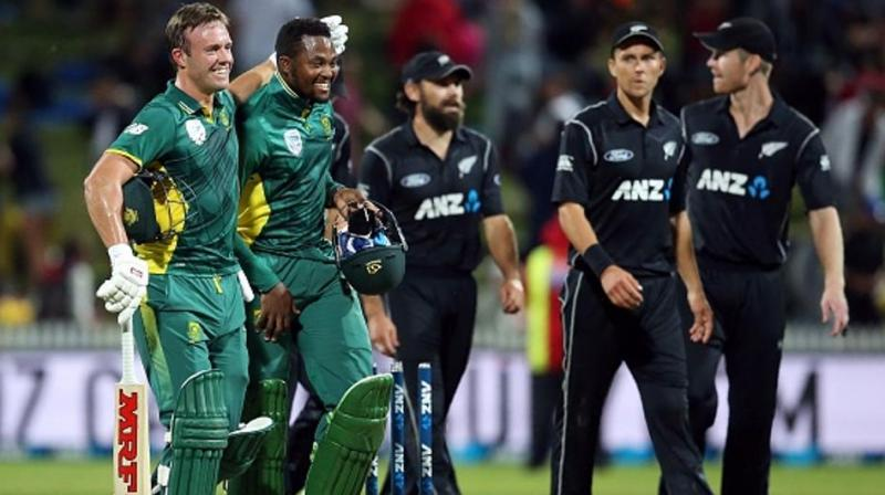 Trent Boult comments came ahead of his side's World Cup clash against South Africa. The Proteas have been on a dismal run in the tournament as they have only managed to win one match whereas, New Zealand, on the other side, have defeated all the team they have played against and are unbeaten so far in the tournament. (Photo:AFP)