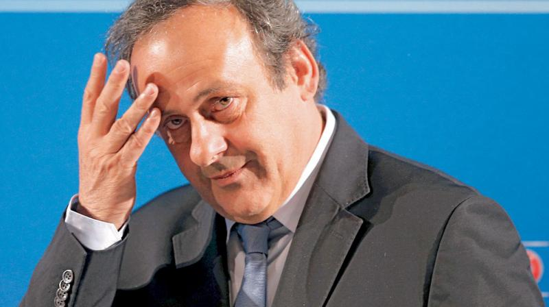 Michel Platini, 63, looked drawn as he left the police anti-corruption office in Nanterre in the western Paris suburbs.