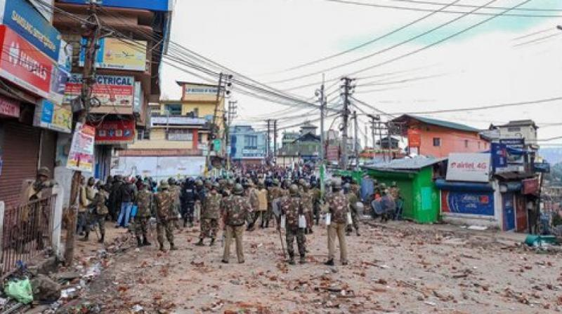 The forces have been sent to help the police maintain law and order in the Meghalaya capital. (Photo: PTI)