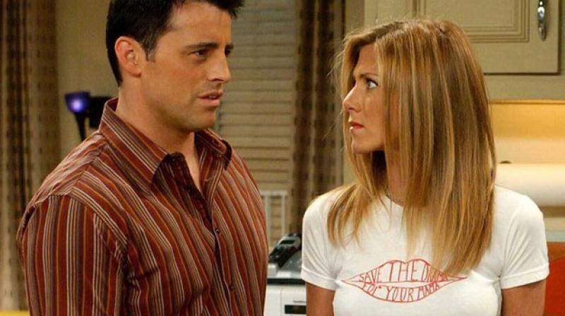 Jennifer Aniston and Matt LeBlanc in 'Friends.'