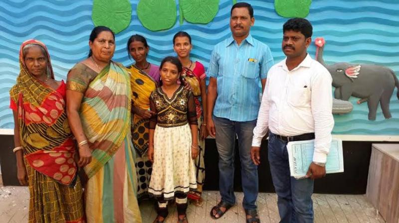 The CWC authorities, Nellore, contacted their counterpart in Puri and requested them to help them to trace the parents of the girl.