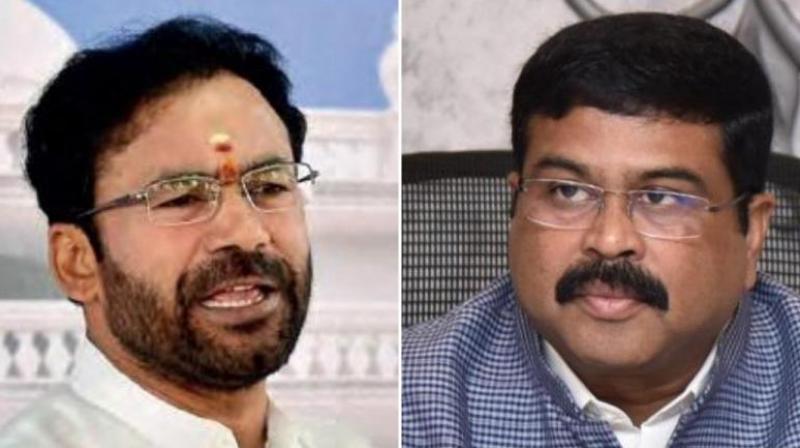 Union Ministers G Kishan Reddy and Dharmendra Pradhan. (File: PTI Photo)