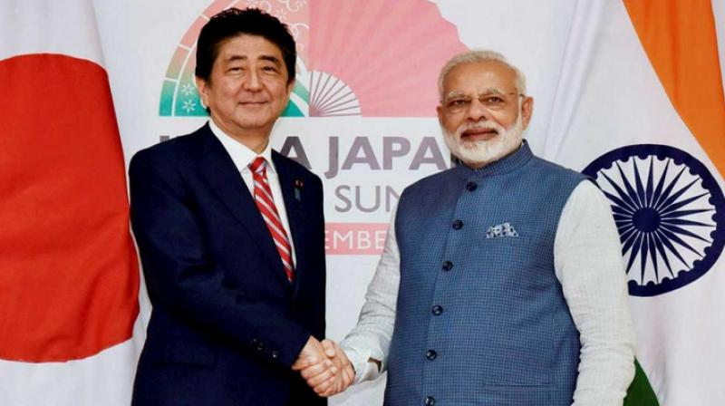 Japan's diplomatic boost to India on China border tension. (AFP Photo)