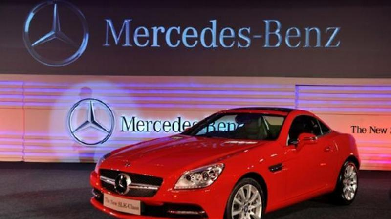 Mercedes-Benz will recall more than 660,000 vehicles in China later this year for a possible oil leak. (AFP Photo)
