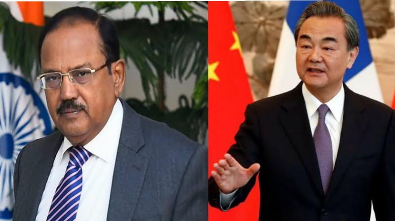 India's National Security Advisor (NSA) Ajit Doval held talks with Chinese Foreign Minister and State Councilor Wang Yi. (AFP Photo)