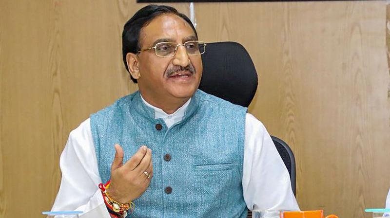 Union Minister for Human Resource Development, Dr. Ramesh Pokhriyal Nishank (PTI Photo)