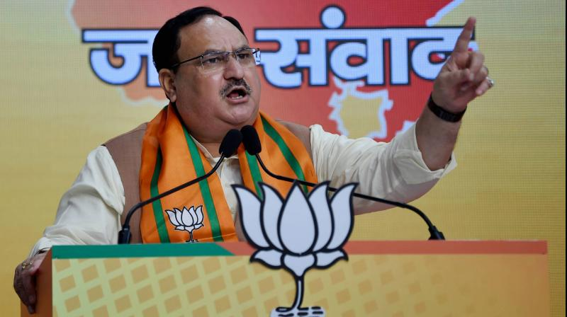 BJP president J P Nadda. (PTI Photo)