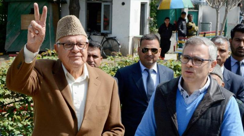 Farooq Abdullah filed the habeas corpus petition for seven leaders, while his son Omar Abdullah filed a similar plea for the remaining nine. (PTI Photo)