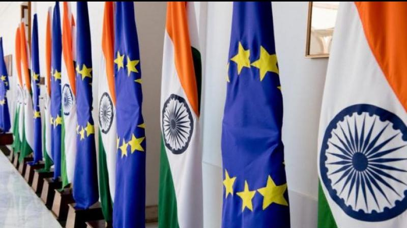 Global issues and tensions are expected to figure on the agenda for the 15th India-European Union (EU) Virtual (video-conference) Summit on Wednesday. (Photo- Twitter)