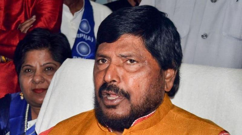 Union minister and RPI (A) chief Ramdas Athawale. (PTI Photo)