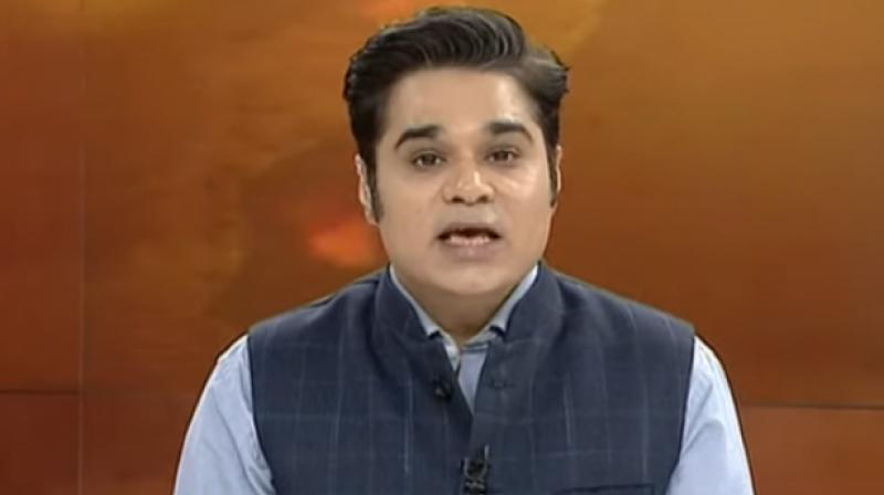 TV news anchor Amish Devgan. (Photo- Social Media)