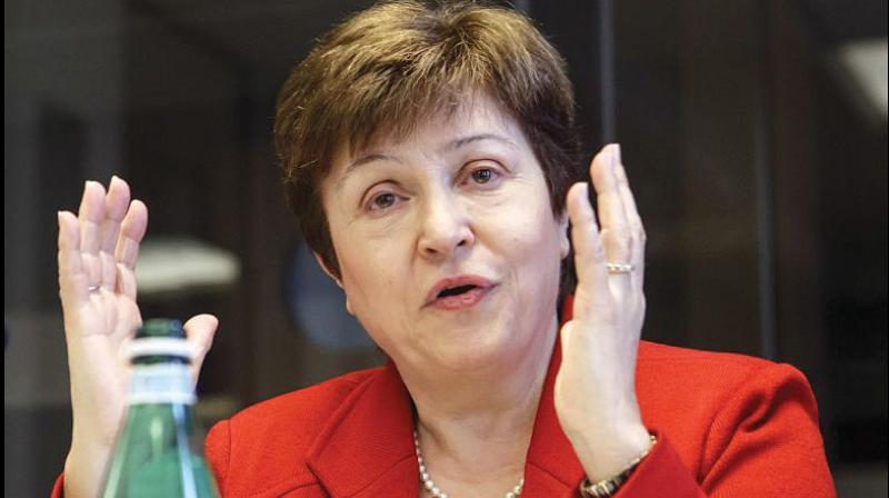 IMF chief Kristalina Georgieva. (AFP Photo)