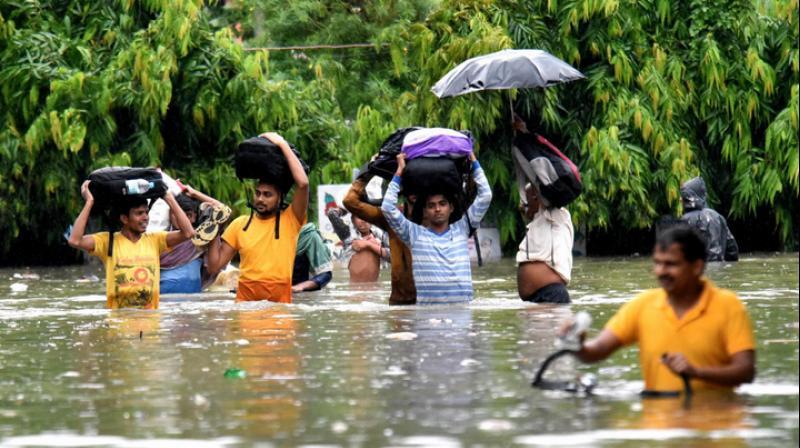 All major rivers above danger mark in Bihar. (PTI Photo)