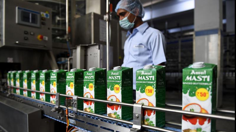 The consolidated turnover of the Amul brand of products exceeded Rs 52,000 crore during 2019-20. (PTI Photo)
