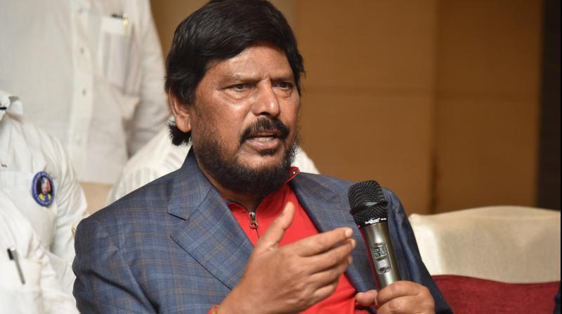RPI chief and Union minister of state for social justice Ramdas Athwale. (DC Photo)