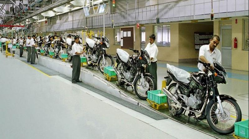 Bajaj Auto on Wednesday posted a 60.92 per cent decline in its consolidated net profit at Rs 395.51 crore for the first quarter ended June 30. (ANI Photo)