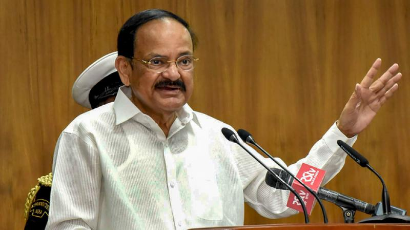 Vice President M Venkaiah Naidu Naidu also clarified that he meant no disrespect to anyone. (PTI Photo)
