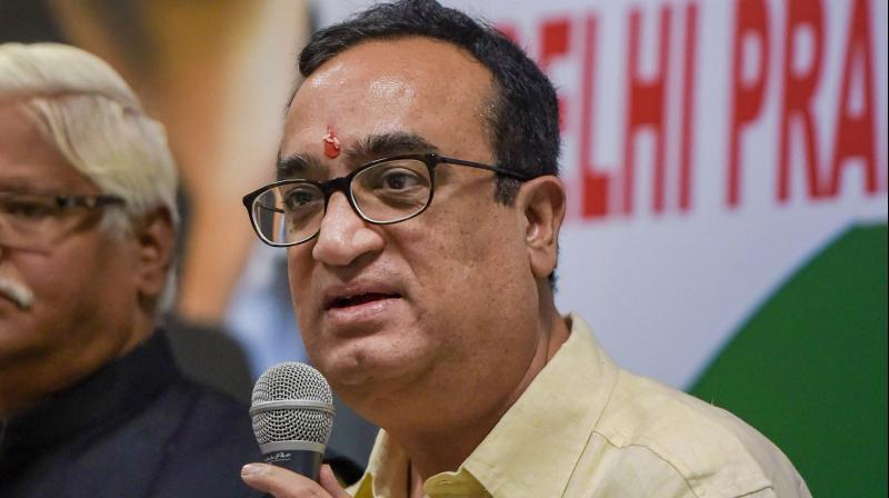 Congress leader Ajay Maken accused the Centre on Sunday of conspiring to topple the Congress governments in various state. (PTI Photo)