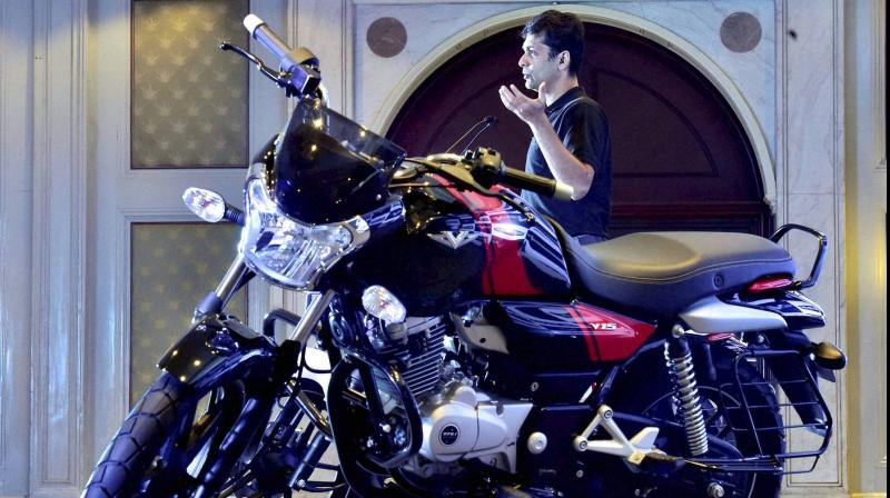 Bajaj Auto is witnessing a strong revival in demand for two-wheelers in the domestic as well as international markets. (PTI Photo)