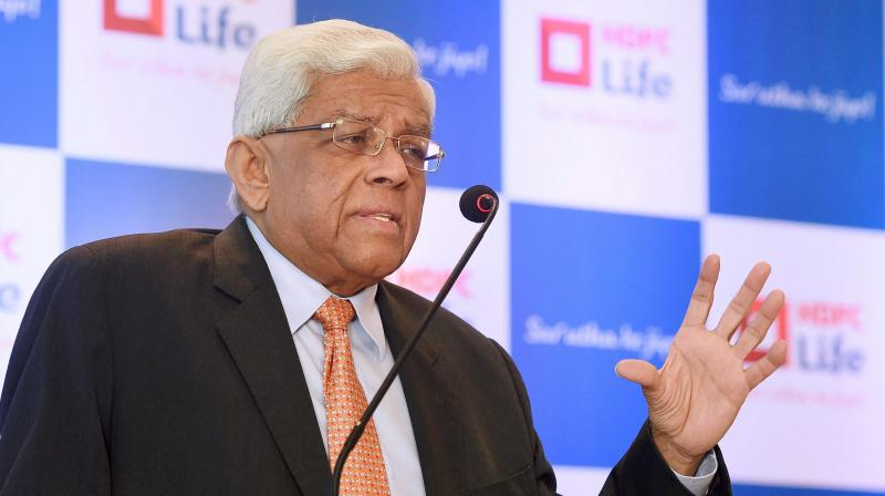 HDFC Chairman Deepak Parekh requested the RBI for a one-time restructuring of loans. (PTI Photo)