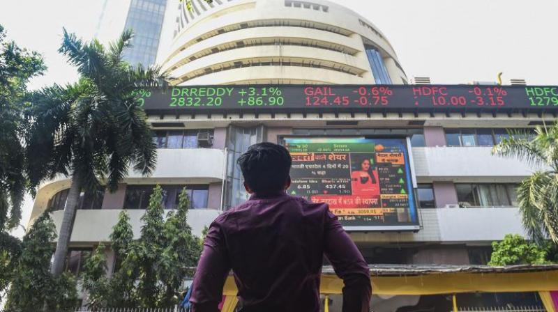 Sensex tanks 422 Points, Nifty falls 97 points. (PTI Photo)