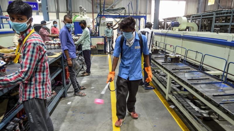 India's economic outlook has worsened again as business activity slows and COVID-19 infections soar. (PTI Photo)
