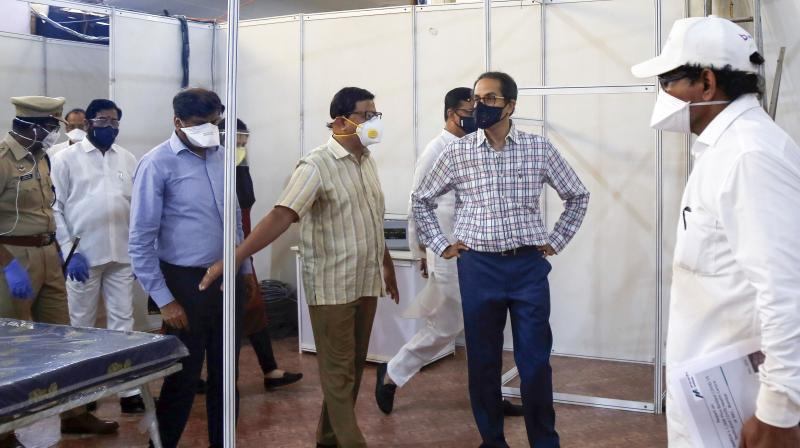 Chief Minister Uddhav Thackeray visits Pune, which is badly hit by the virus following Mumbai. (PTI Photo)