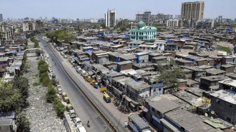 A view of deserted roads near Dharavi during the lockdown. Washington Post has lauded the Dharavi-model that helps contain the spread of Coronavirus. (PTI Photo)