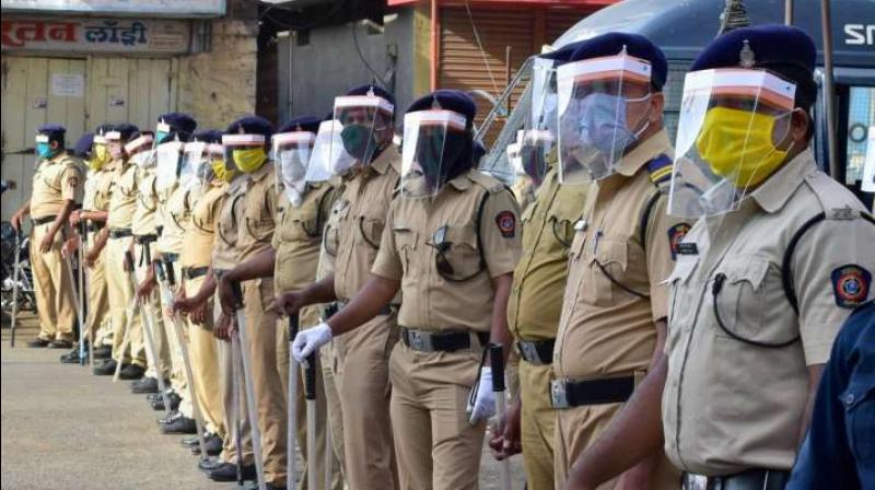 COVID-19 count in Maharashtra Police force stands at 9,566. (PTI Photo)