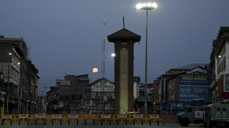 Curfew imposed in Srinagar to mark first anniversary of New Delhi's abolition of the article 370. (DC Photo- H.U. Naqash)