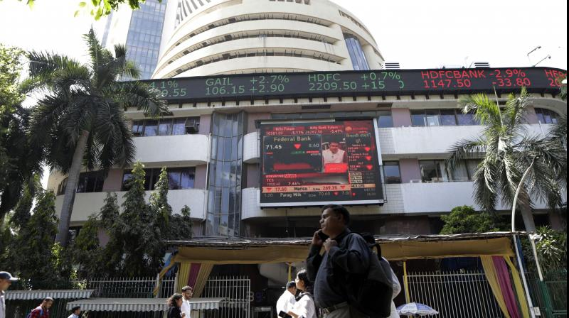 Sensex surged 362 points on Thursday after the RBI left interest rates unchanged. (PTI Photo)