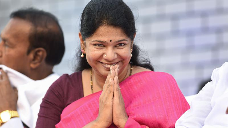 DMK MP Kanimozhi on Sunday said a CISF officer asked her if she was an Indian, when she asked the woman official to speak in Tamil or English. (PTI Photo)