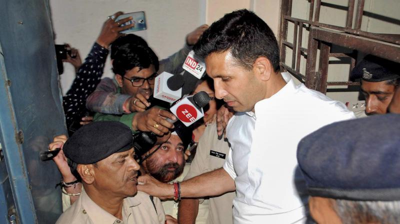 FIR against Congress leader Jitu Patwari for tampering PM's photograph. (PTI Photo)