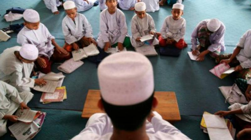 Protest over madrasa teacher being 'beaten up' by cop during lockdown. (File Photo)
