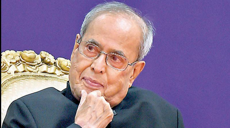Former Prez Pranab Mukherjee tests positive for COVID-19. (PTI Photo)