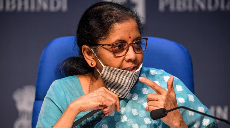 Union Finance Minister Nirmala Sitharaman said that a total amount sanctioned under the 100 per cent Emergency Credit Line Guarantee Scheme. (PTI Photo)