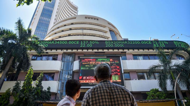 Sensex tanks 433 pts; Nifty gives up 11,200 level. (PTI Photo)
