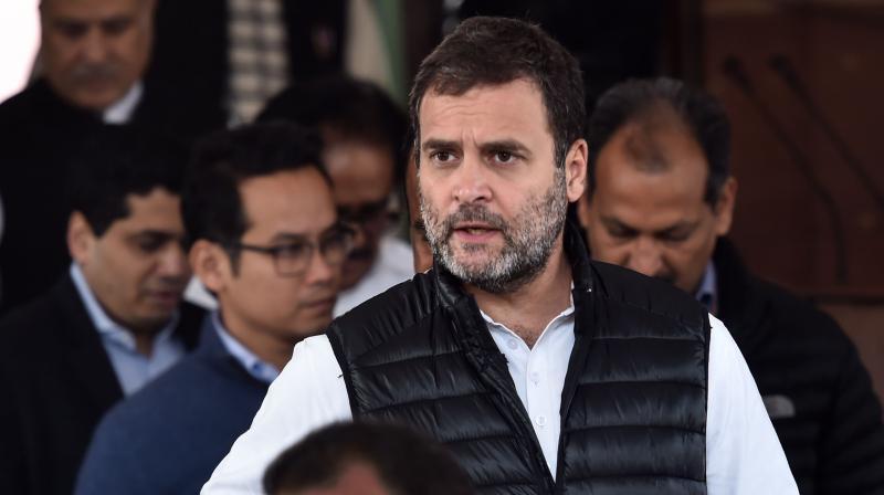 Congress leader Rahul Gandhi said that Prime Minister allowed China to take Indian land. (PTI Photo)