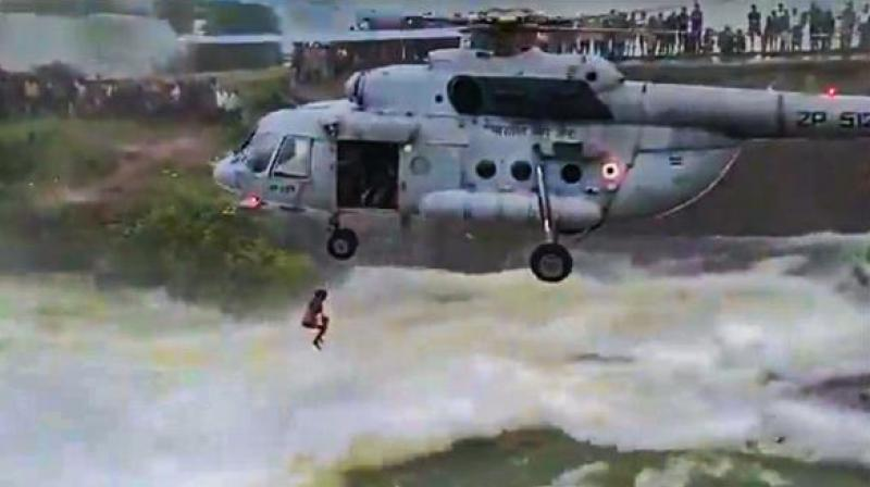 Chandigarh man stranded in flooded dam for 16 hours, rescued by IAF. (Photo- Social Media)