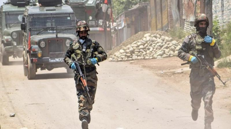 Security forces launched a cordon and search operation in Zanigam village in the Beerwah area of Budgam district following information about the presence of militants there. (Representational image: AFP file)