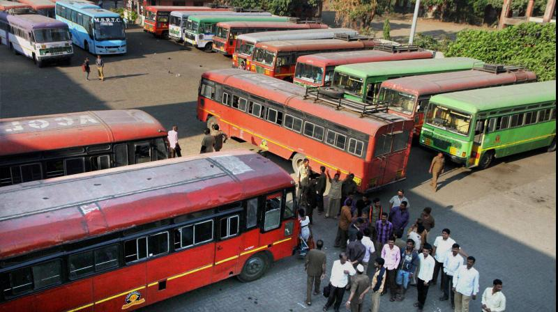 Maharashtra government on Wednesday allowed resumption of inter-district bus services of the state transport corporation. (PTI Photo)